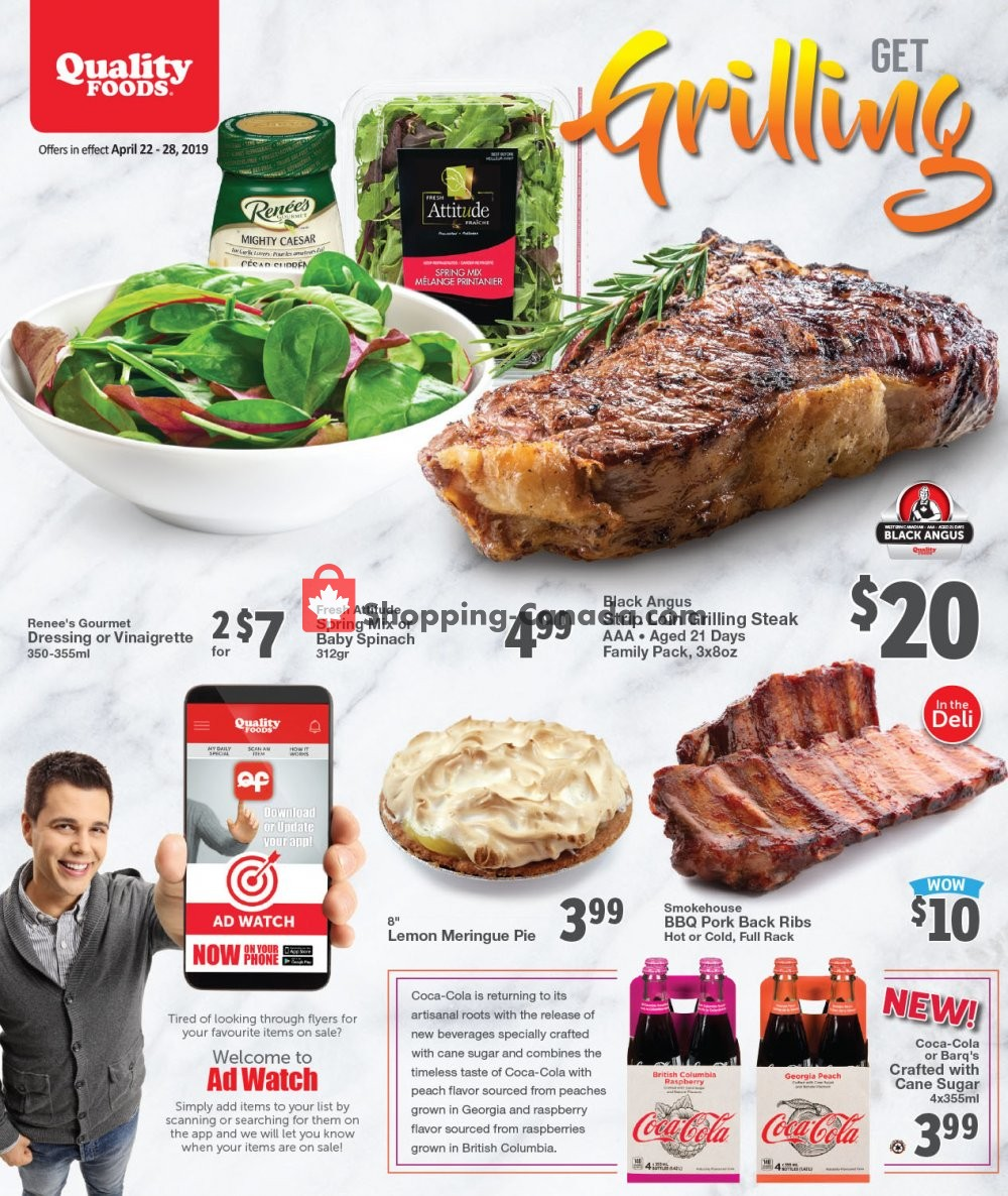 Flyer Quality Foods Canada - from Monday April 22, 2019 to Sunday April 28, 2019