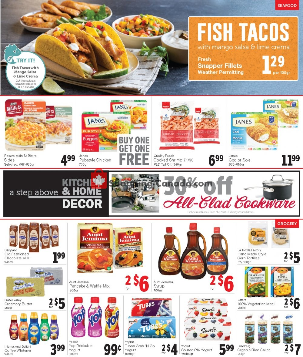 Flyer Quality Foods Canada - from Monday January 13, 2020 to Sunday January 19, 2020