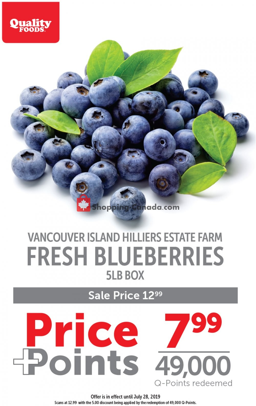 Flyer Quality Foods Canada - from Monday July 22, 2019 to Sunday July 28, 2019