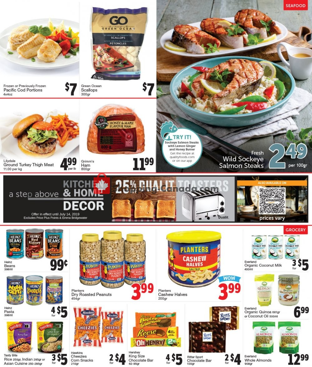 Flyer Quality Foods Canada - from Monday July 8, 2019 to Sunday July 14, 2019