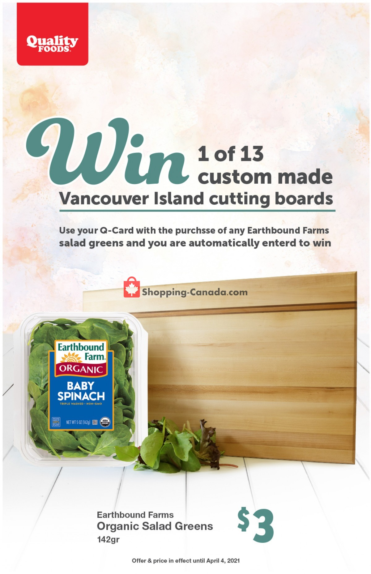 Flyer Quality Foods Canada - from Monday March 29, 2021 to Sunday April 4, 2021