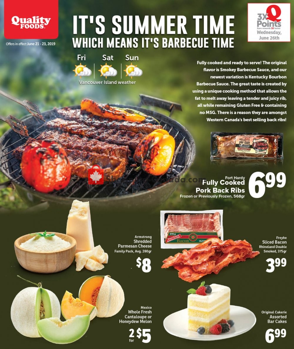 Flyer Quality Foods Canada - from Friday June 21, 2019 to Sunday June 23, 2019