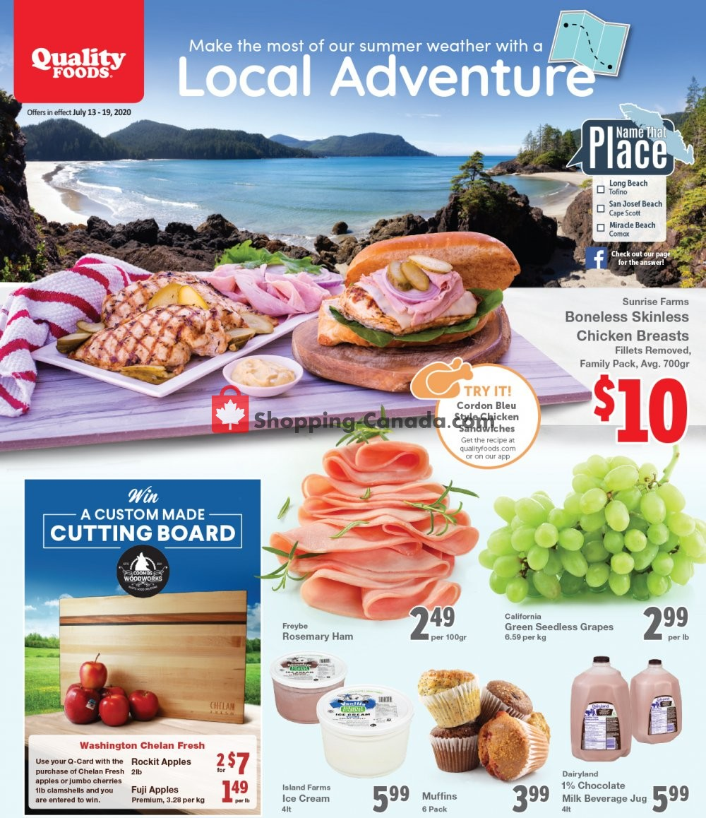 Flyer Quality Foods Canada - from Monday July 13, 2020 to Sunday July 19, 2020