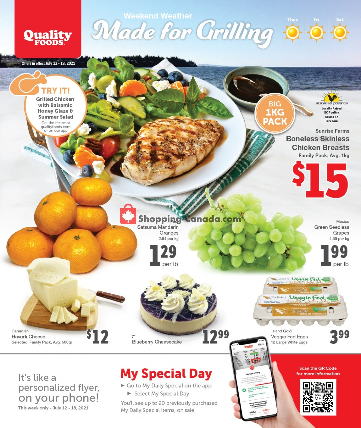 Flyer Quality Foods Canada - from Monday July 12, 2021 to Sunday July 18, 2021
