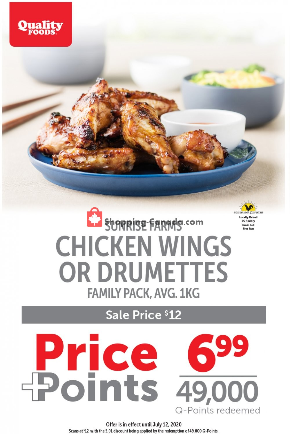 Flyer Quality Foods Canada - from Monday July 6, 2020 to Sunday July 12, 2020