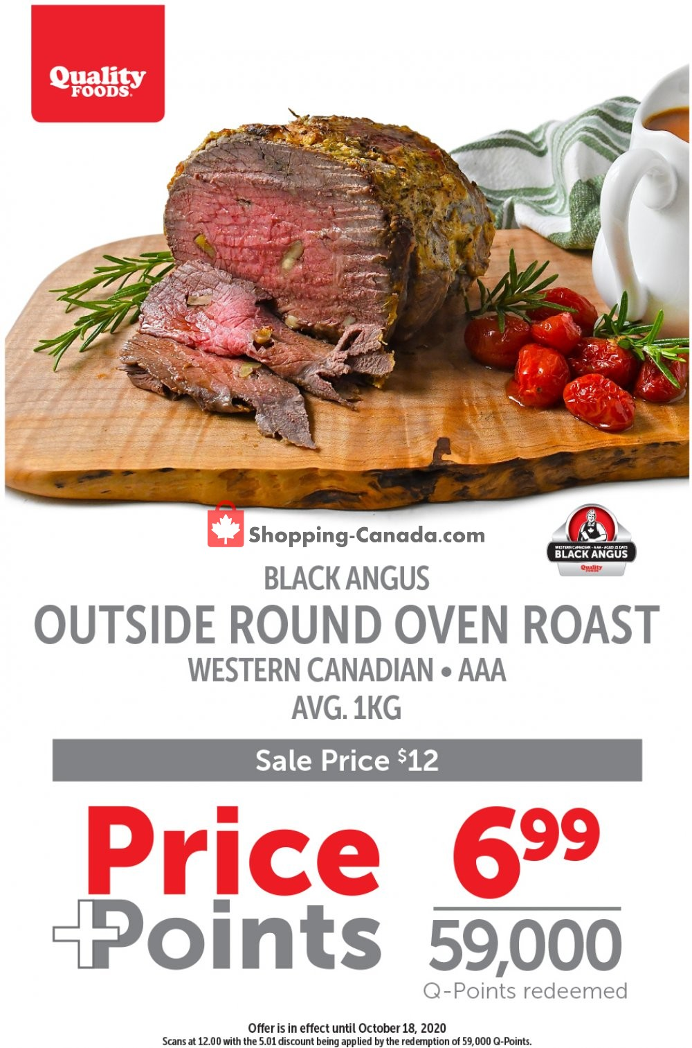 Flyer Quality Foods Canada - from Monday October 12, 2020 to Sunday October 18, 2020