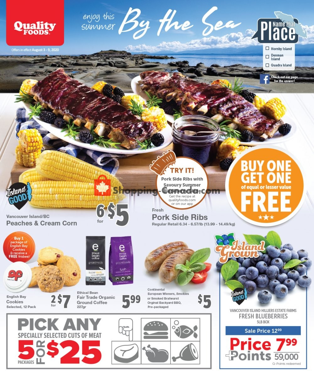 Flyer Quality Foods Canada - from Monday August 3, 2020 to Sunday August 9, 2020