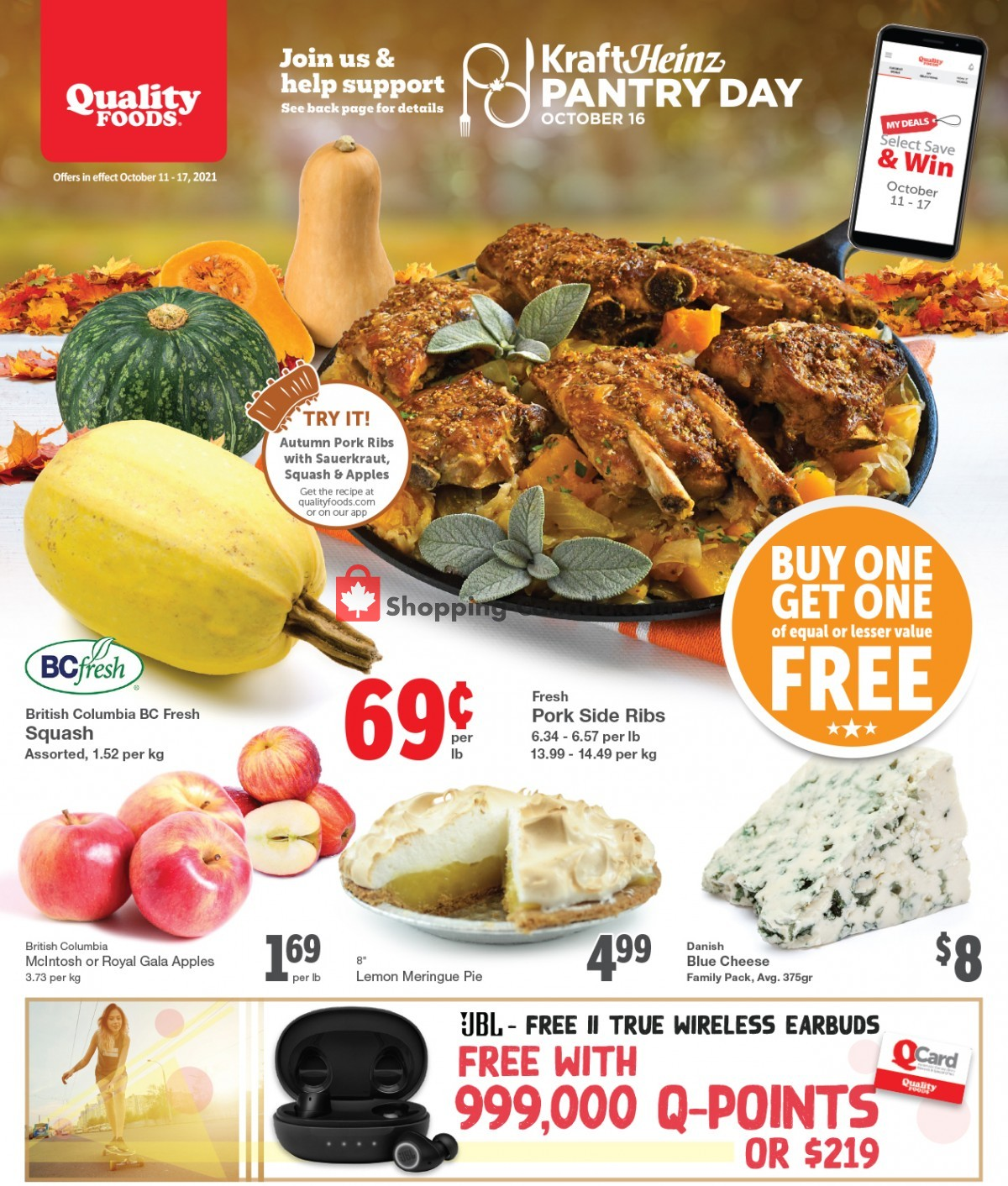 Flyer Quality Foods Canada - from Monday October 11, 2021 to Sunday October 17, 2021