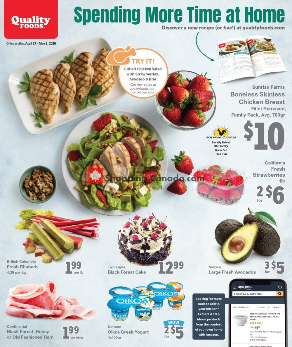 Flyer Quality Foods Canada - from Monday April 27, 2020 to Sunday May 3, 2020