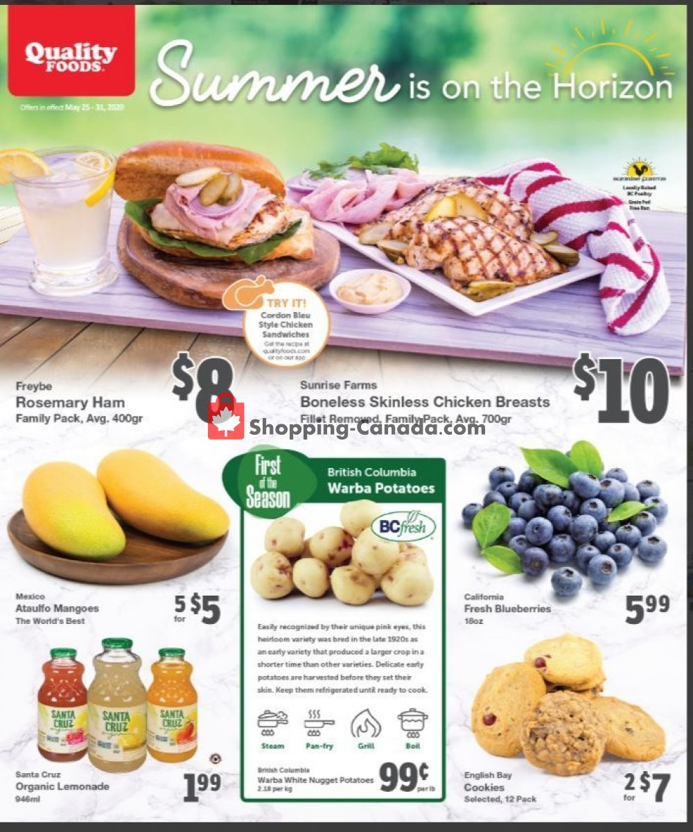 Flyer Quality Foods Canada - from Monday May 25, 2020 to Sunday May 31, 2020