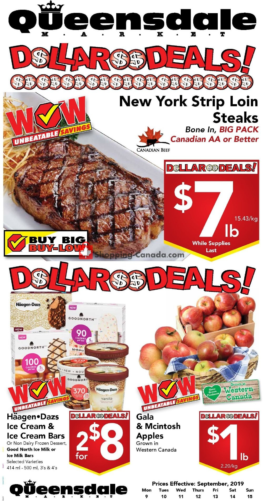Flyer Queensdale Market Canada - from Monday September 9, 2019 to Sunday September 15, 2019