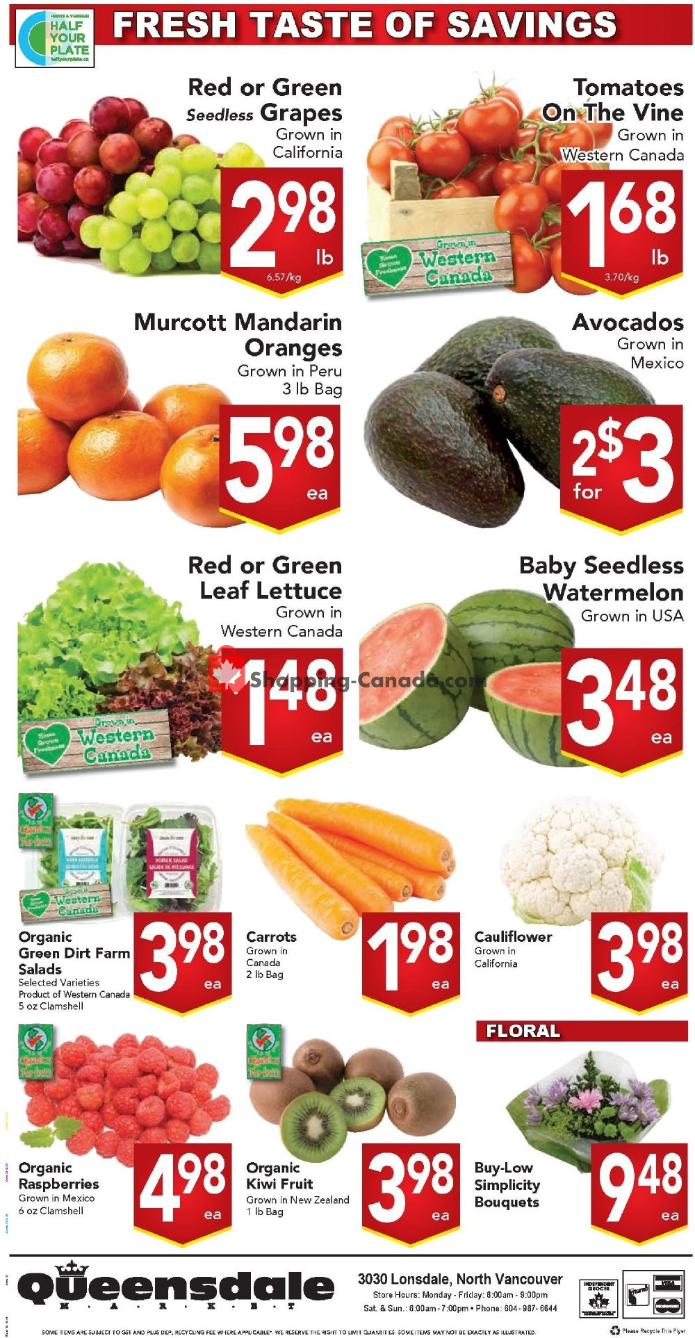 Flyer Queensdale Market Canada - from Monday July 22, 2019 to Sunday July 28, 2019