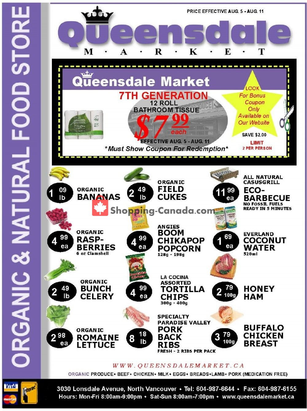 Flyer Queensdale Market Canada - from Monday August 5, 2019 to Sunday August 11, 2019
