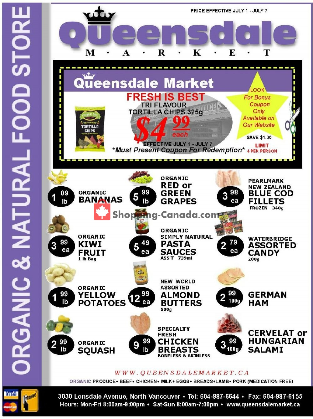 Flyer Queensdale Market Canada - from Monday July 1, 2019 to Sunday July 7, 2019