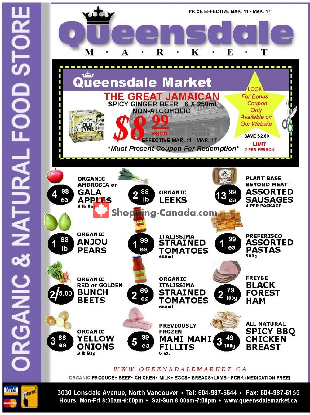 Flyer Queensdale Market Canada - from Monday March 11, 2019 to Sunday March 17, 2019