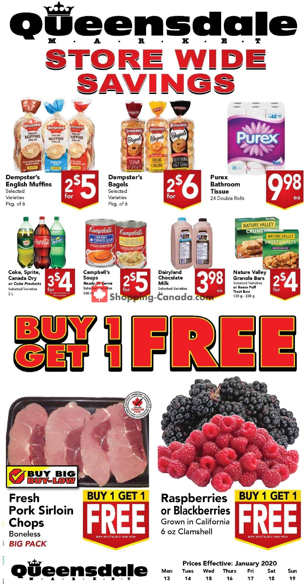 Flyer Queensdale Market Canada - from Monday January 13, 2020 to Sunday January 19, 2020
