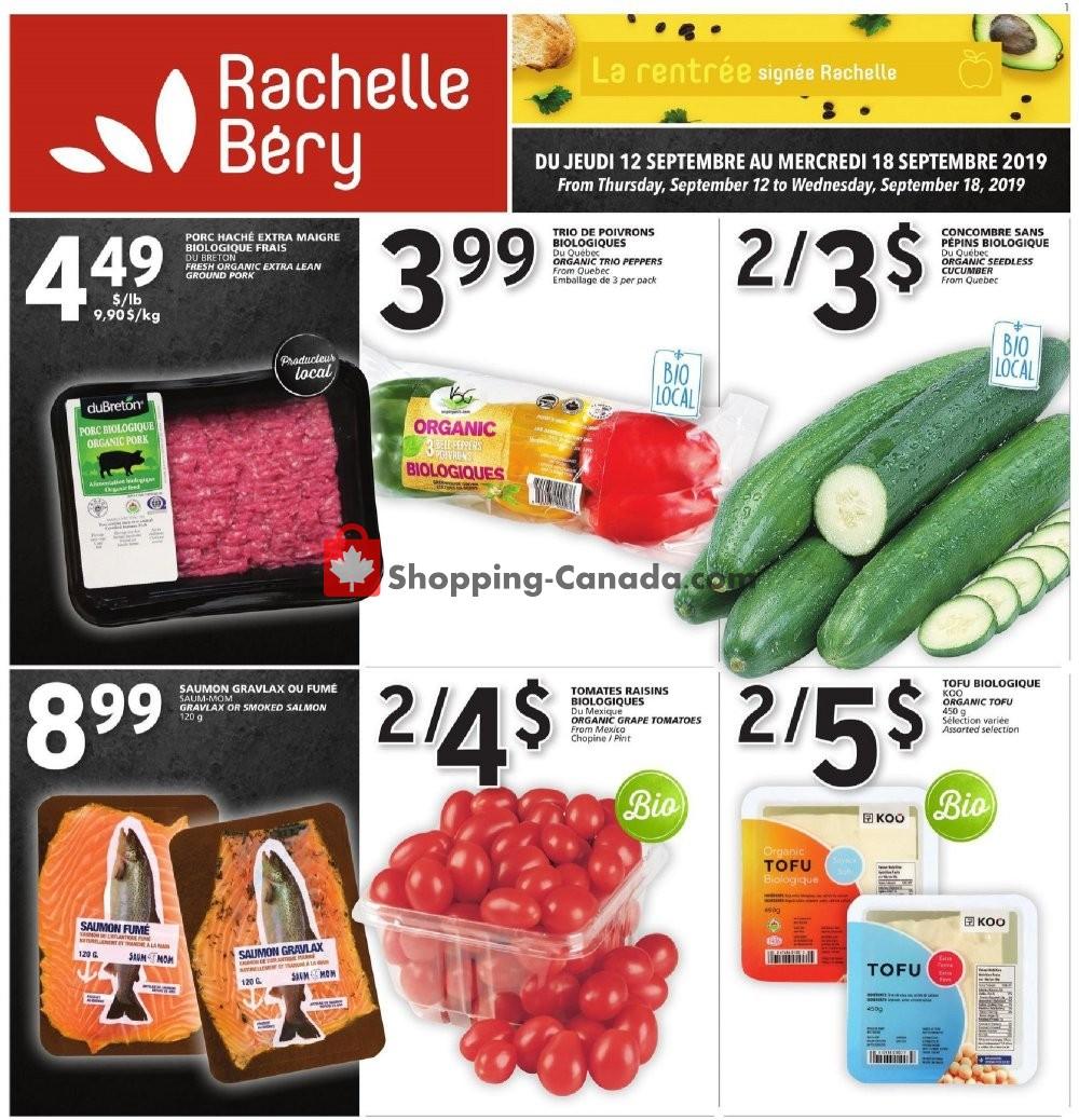 Flyer Rachelle Béry Canada - from Thursday September 12, 2019 to Wednesday September 18, 2019