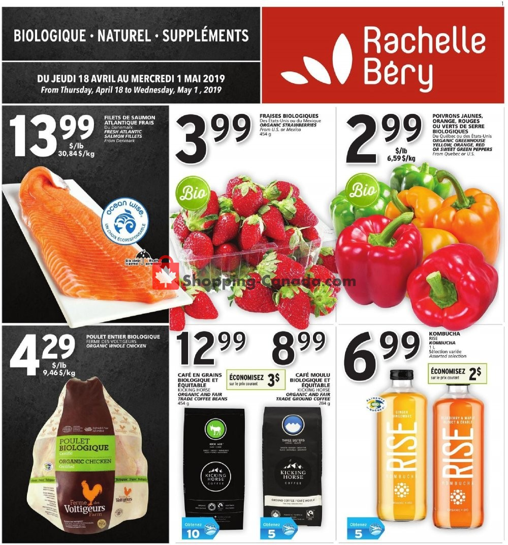 Flyer Rachelle Béry Canada - from Thursday April 18, 2019 to Wednesday May 1, 2019