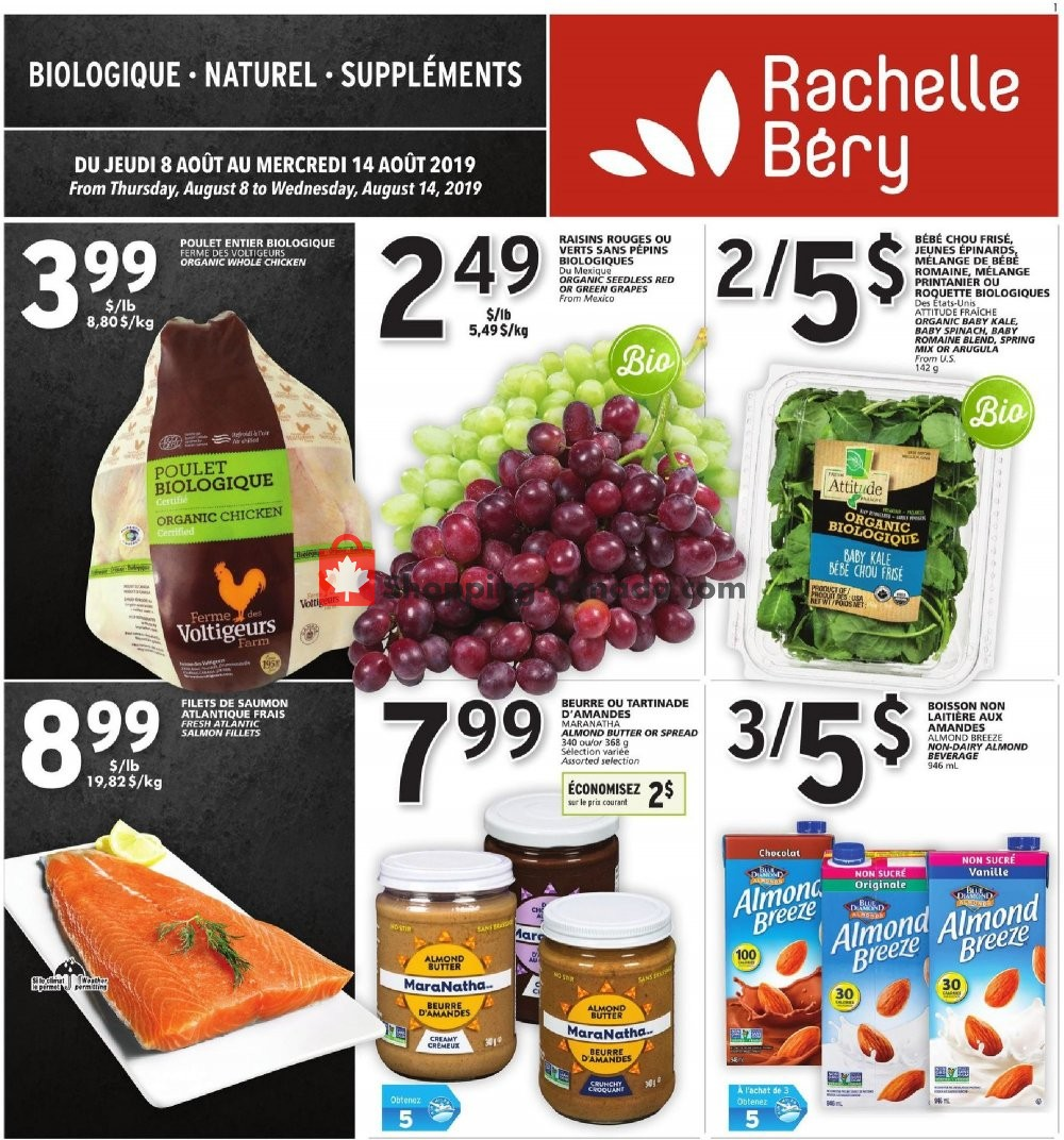 Flyer Rachelle Béry Canada - from Thursday August 8, 2019 to Wednesday August 14, 2019