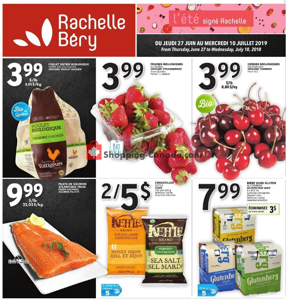 Flyer Rachelle Béry Canada - from Thursday June 27, 2019 to Wednesday July 10, 2019