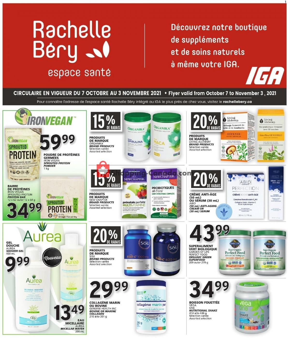 Flyer Rachelle Béry Canada - from Thursday October 7, 2021 to Wednesday November 3, 2021