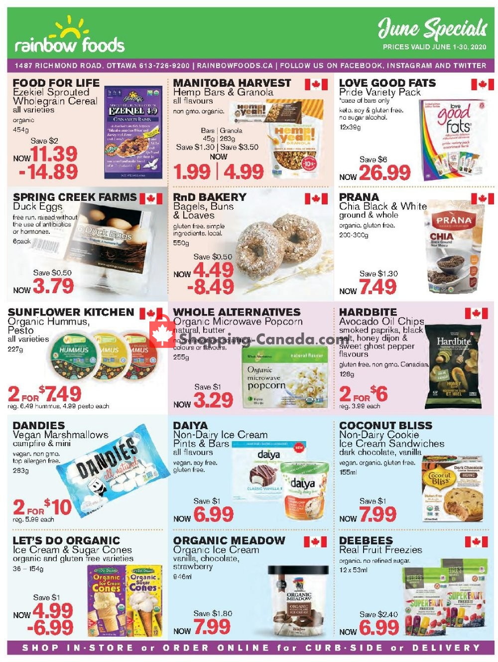 Flyer Rainbow Foods Canada - from Monday June 1, 2020 to Tuesday June 30, 2020
