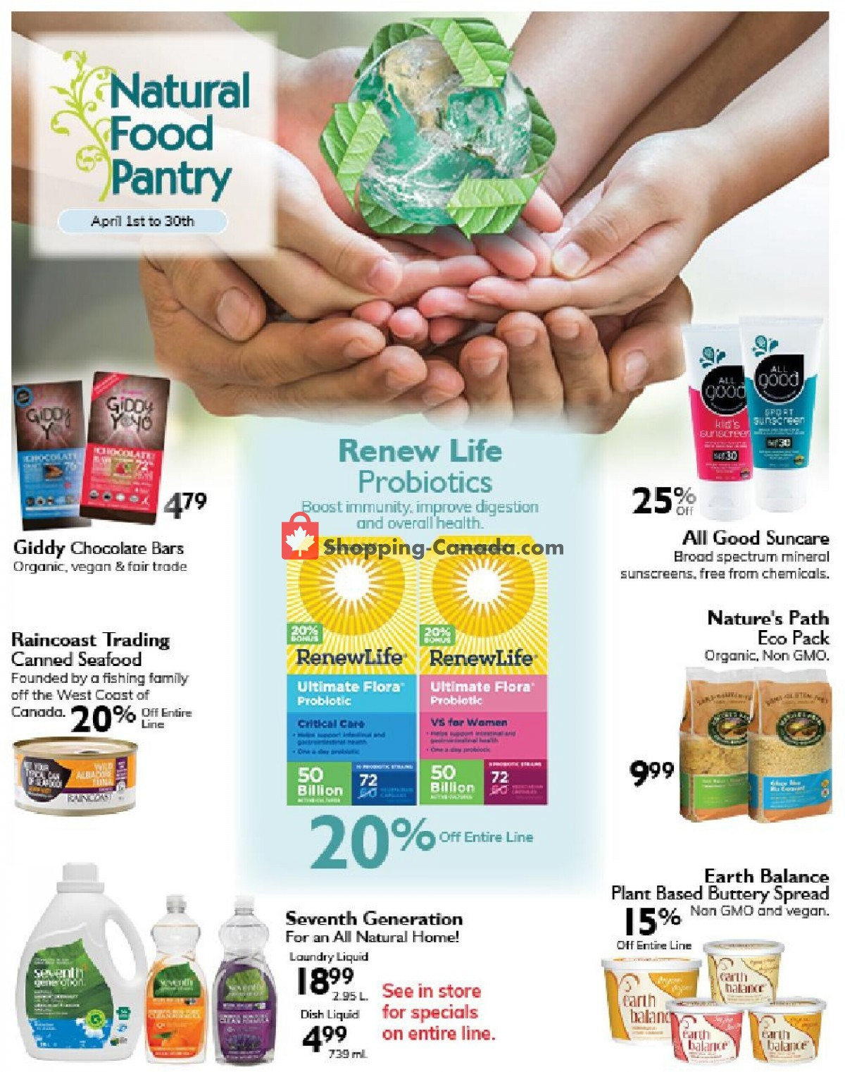 Flyer Rainbow Foods Canada - from Thursday April 1, 2021 to Friday April 30, 2021