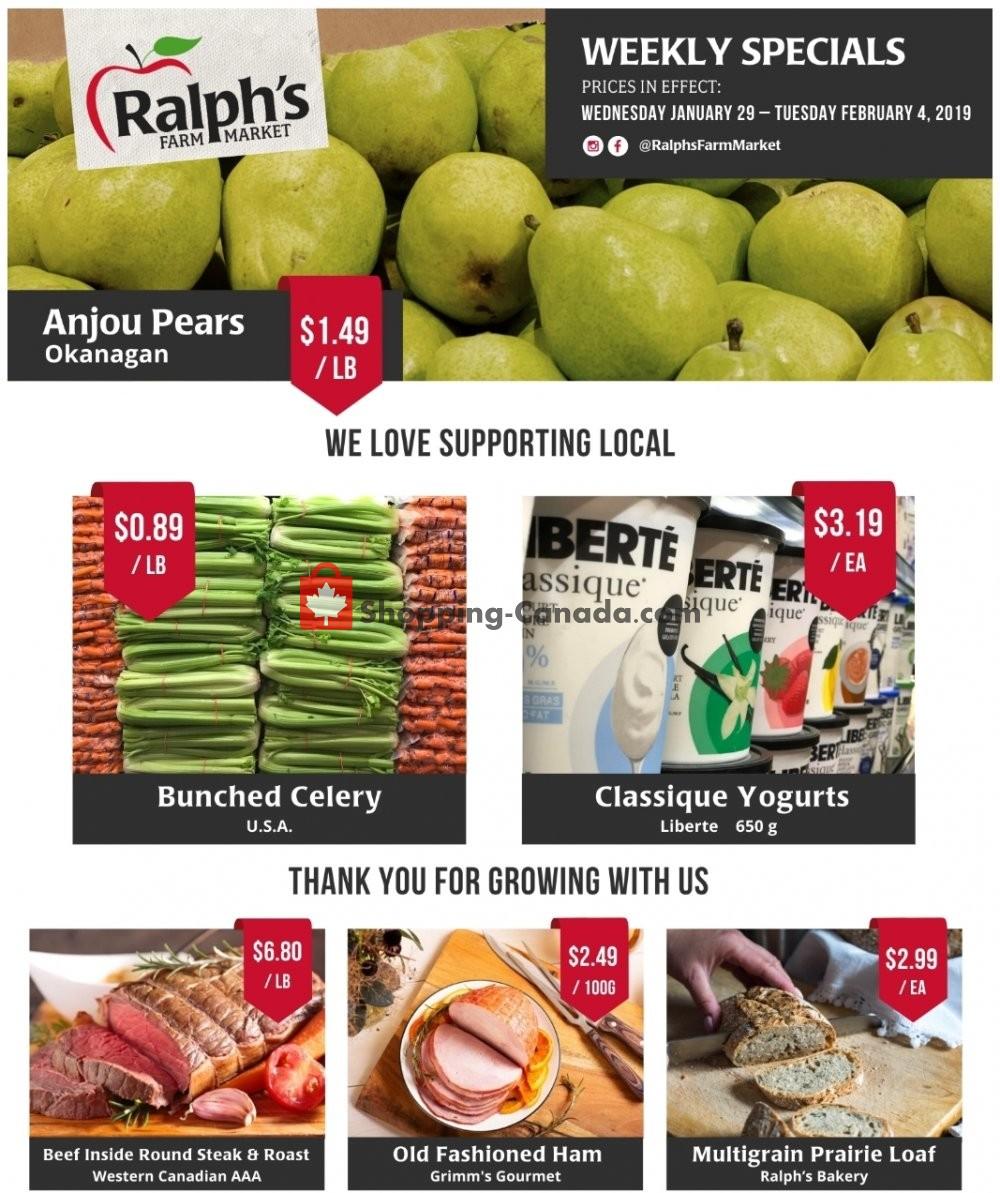 Flyer Ralph's Farm Market Canada - from Wednesday January 29, 2020 to Tuesday February 4, 2020