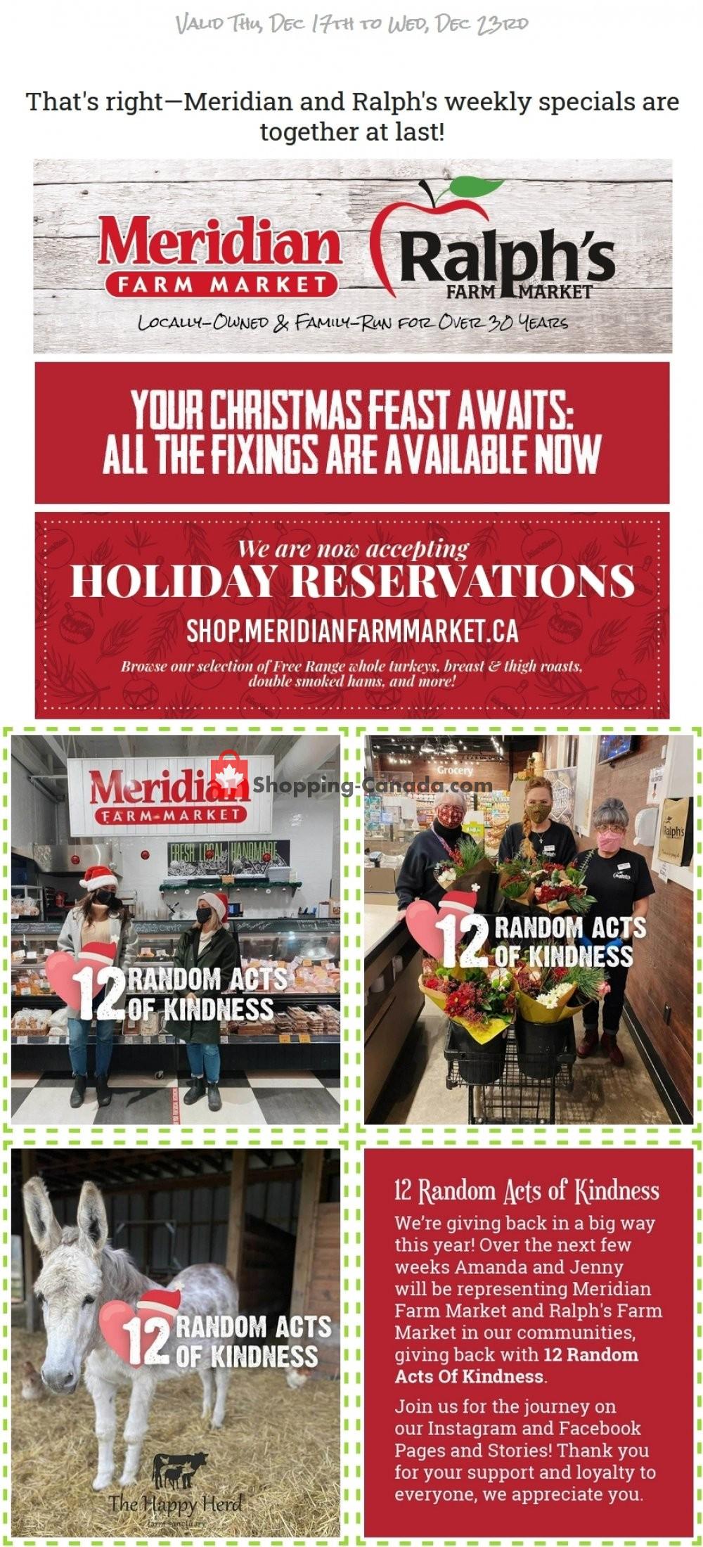 Flyer Ralph's Farm Market Canada - from Thursday December 17, 2020 to Wednesday December 23, 2020