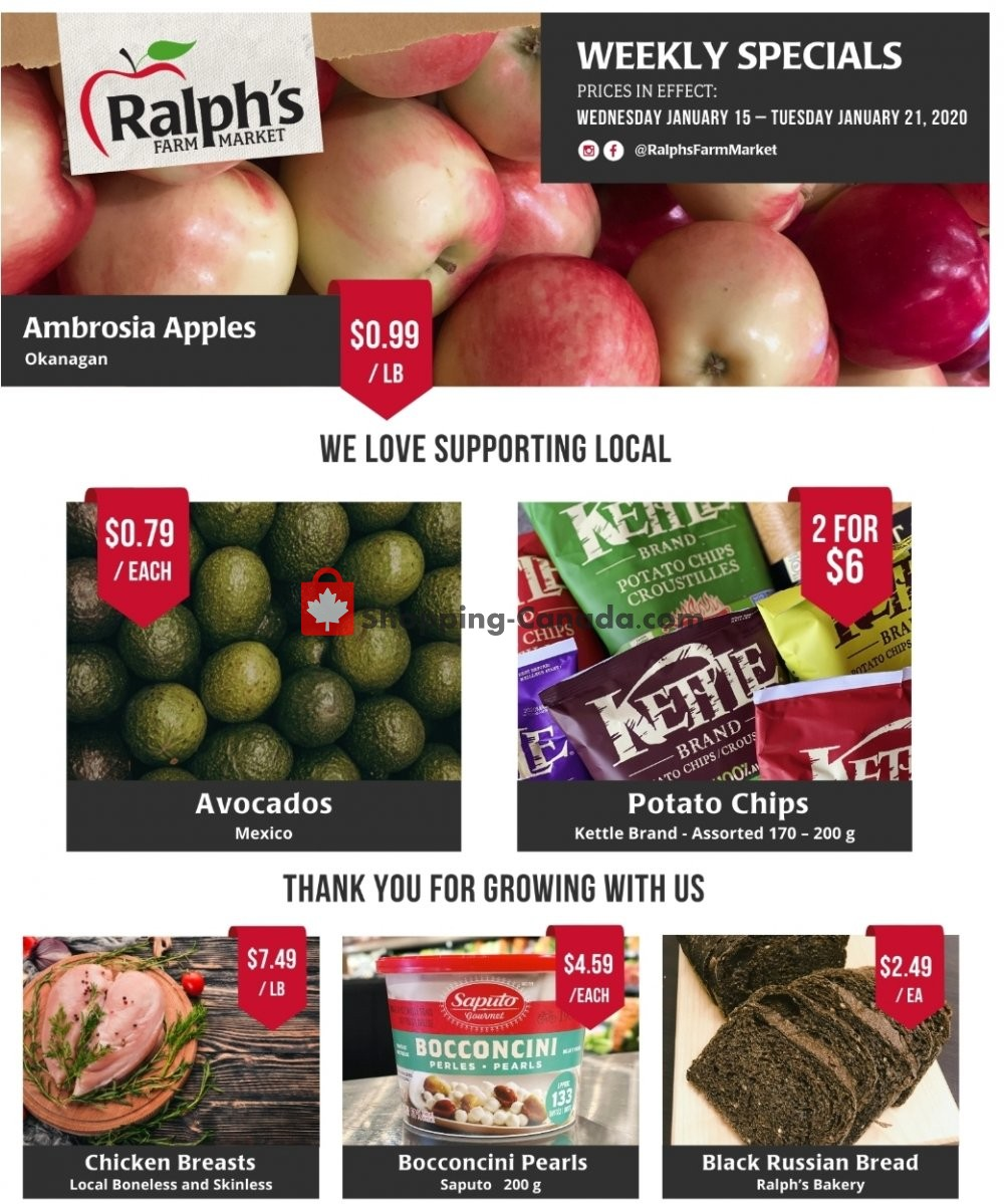 Flyer Ralph's Farm Market Canada - from Wednesday January 15, 2020 to Tuesday January 21, 2020