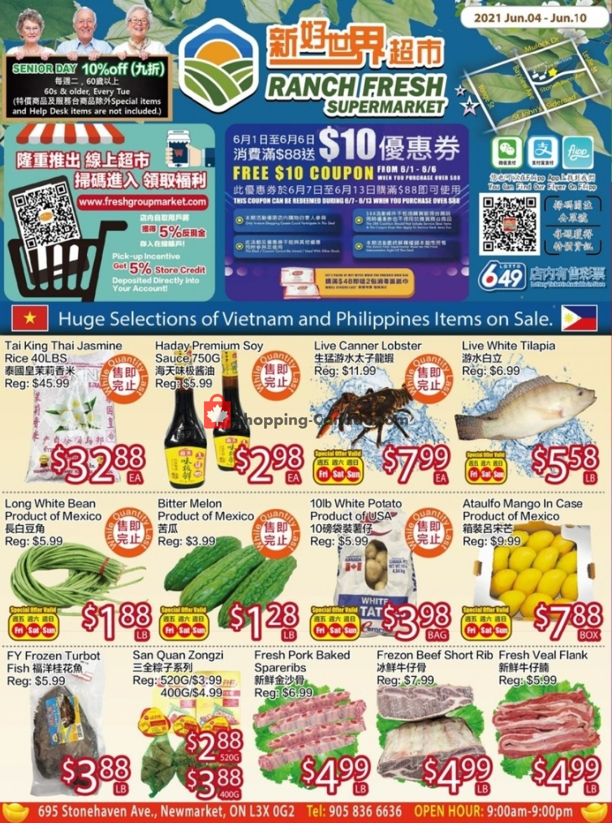 Flyer Ranch Fresh Supermarket Canada - from Friday June 4, 2021 to Thursday June 10, 2021