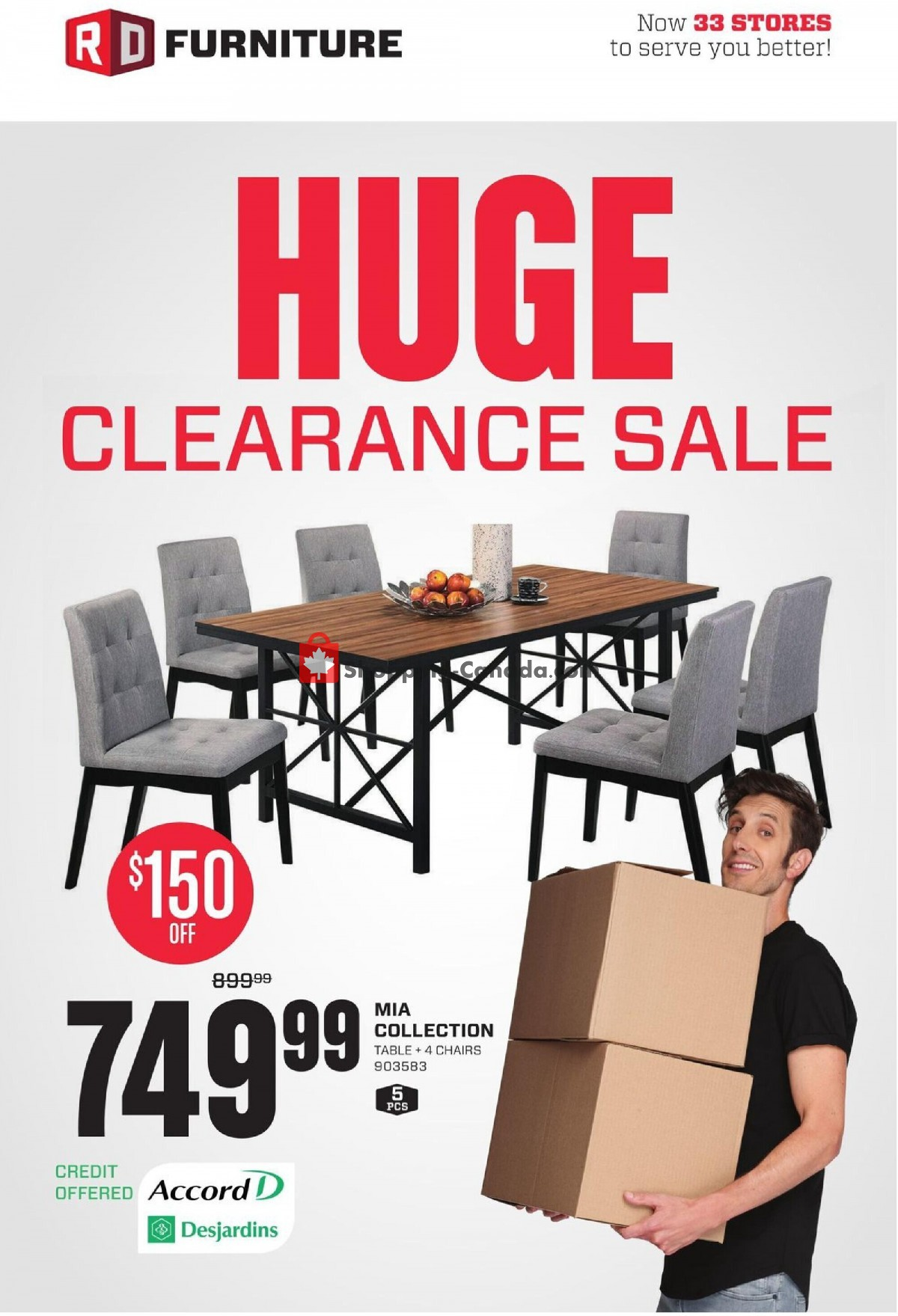 Flyer RD Furniture Canada - from Monday October 11, 2021 to Sunday October 17, 2021