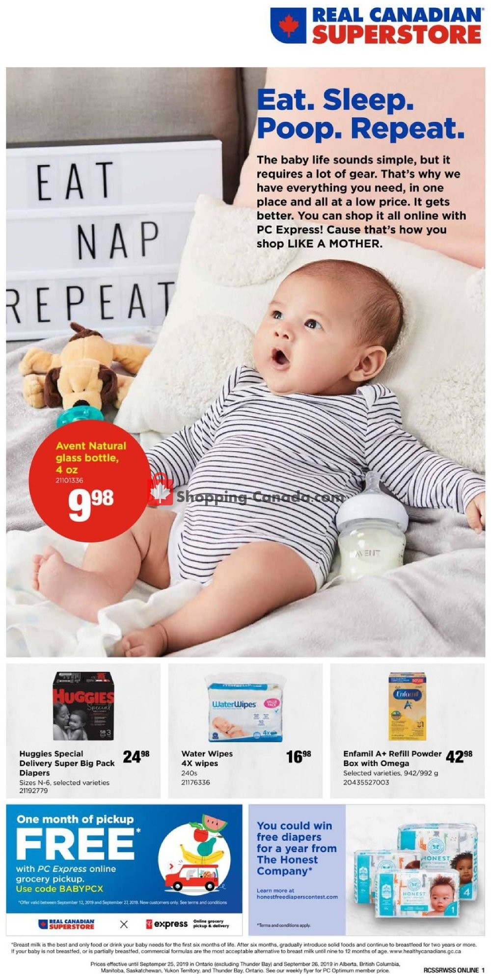 Flyer Real Canadian Superstore Canada - from Thursday September 12, 2019 to Thursday September 26, 2019