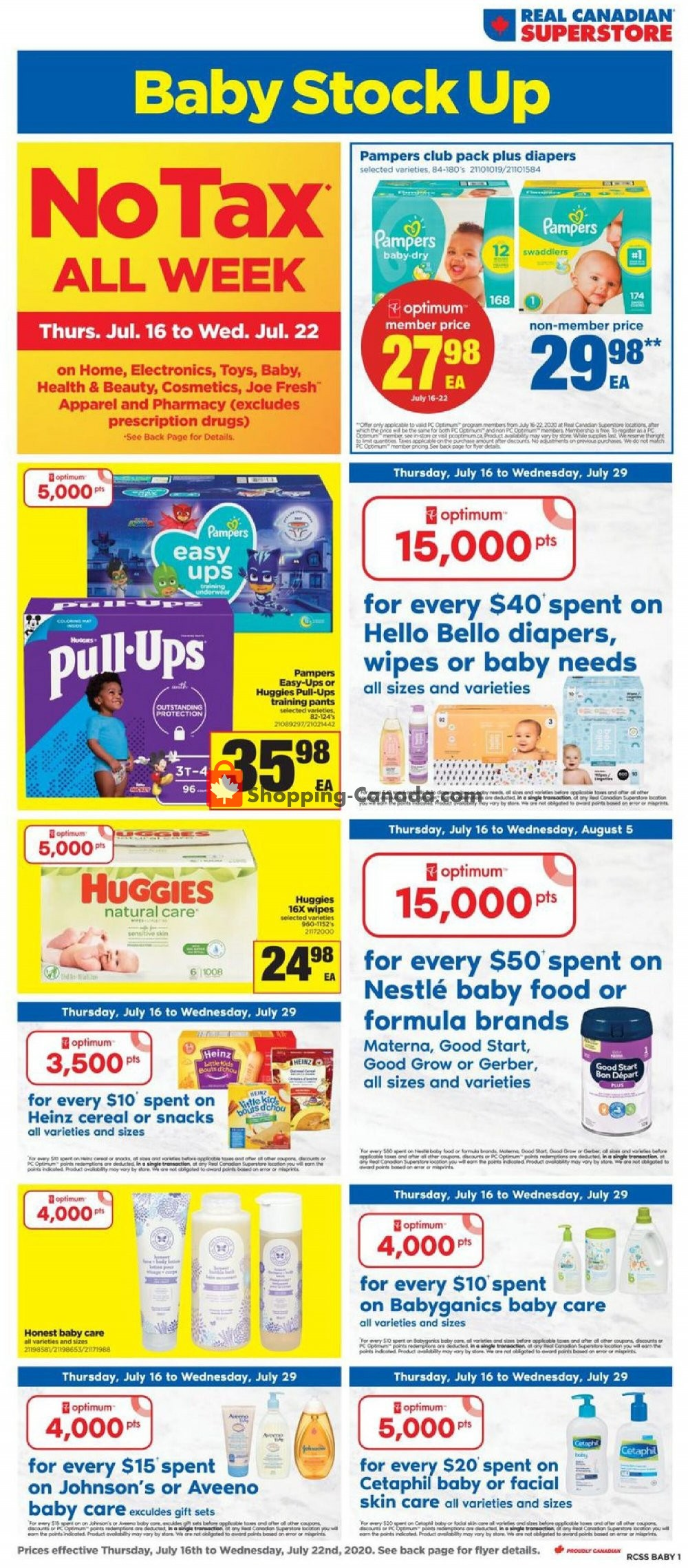 Flyer Real Canadian Superstore Canada - from Thursday July 16, 2020 to Wednesday July 22, 2020