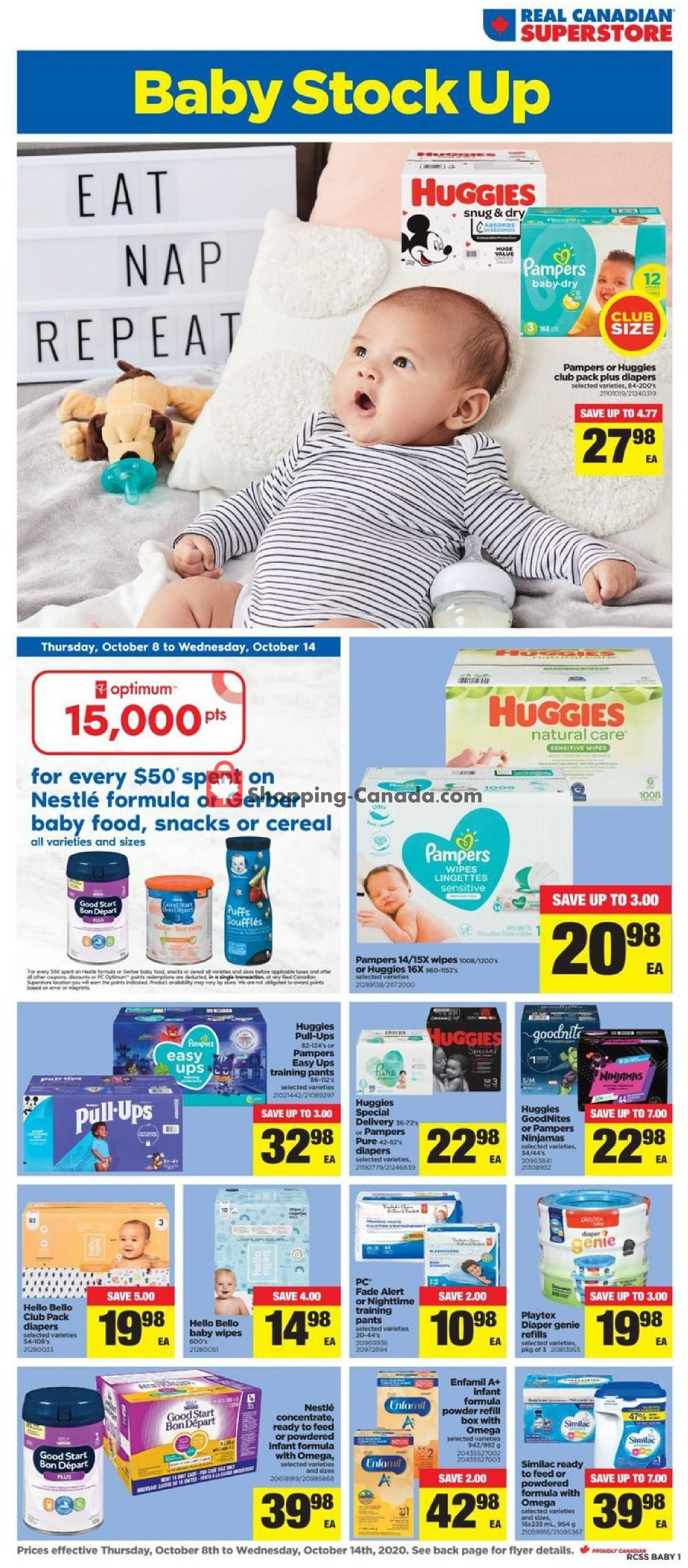 Flyer Real Canadian Superstore Canada - from Thursday October 8, 2020 to Wednesday October 14, 2020