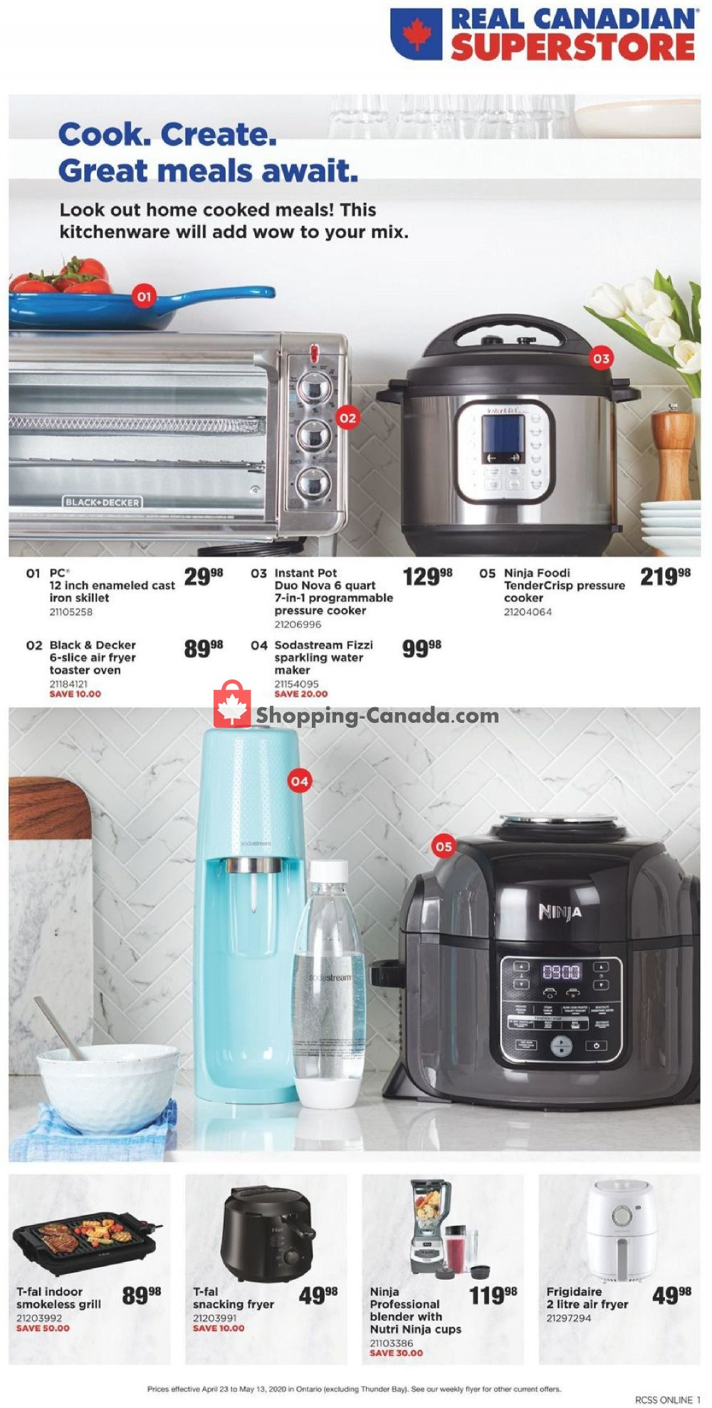Flyer Real Canadian Superstore Canada - from Thursday April 23, 2020 to Wednesday May 13, 2020