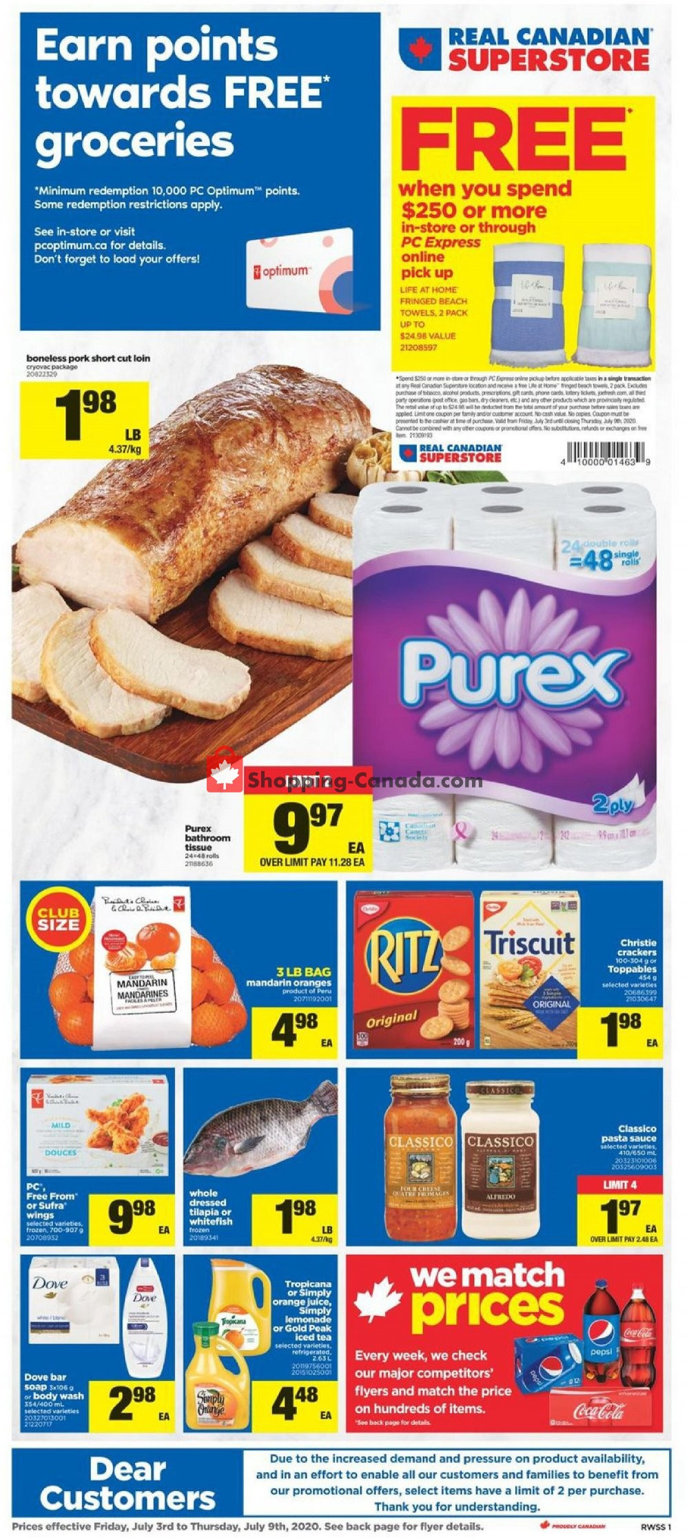 Flyer Real Canadian Superstore Canada - from Friday July 3, 2020 to Thursday July 9, 2020