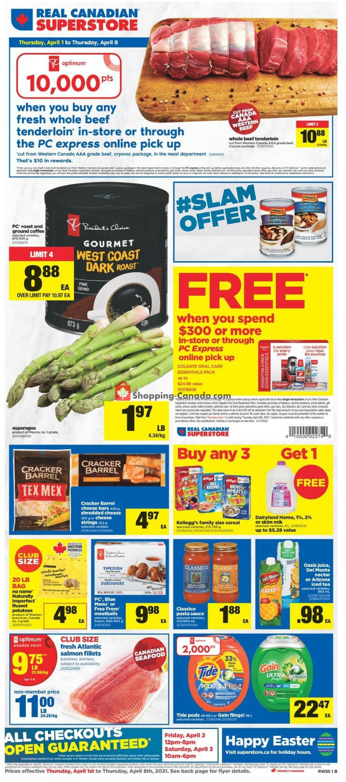 Flyer Real Canadian Superstore Canada - from Thursday April 1, 2021 to Thursday April 8, 2021