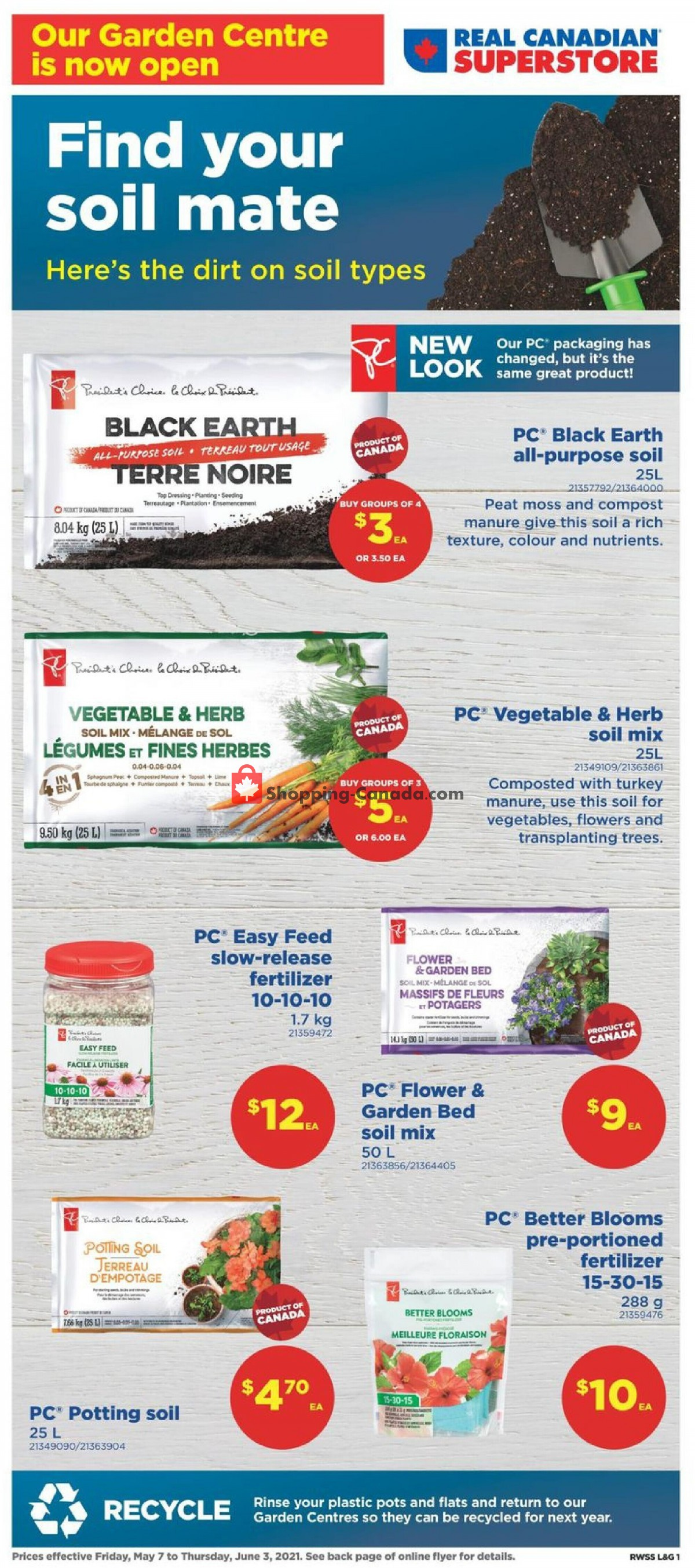 Flyer Real Canadian Superstore Canada - from Friday May 7, 2021 to Thursday June 3, 2021