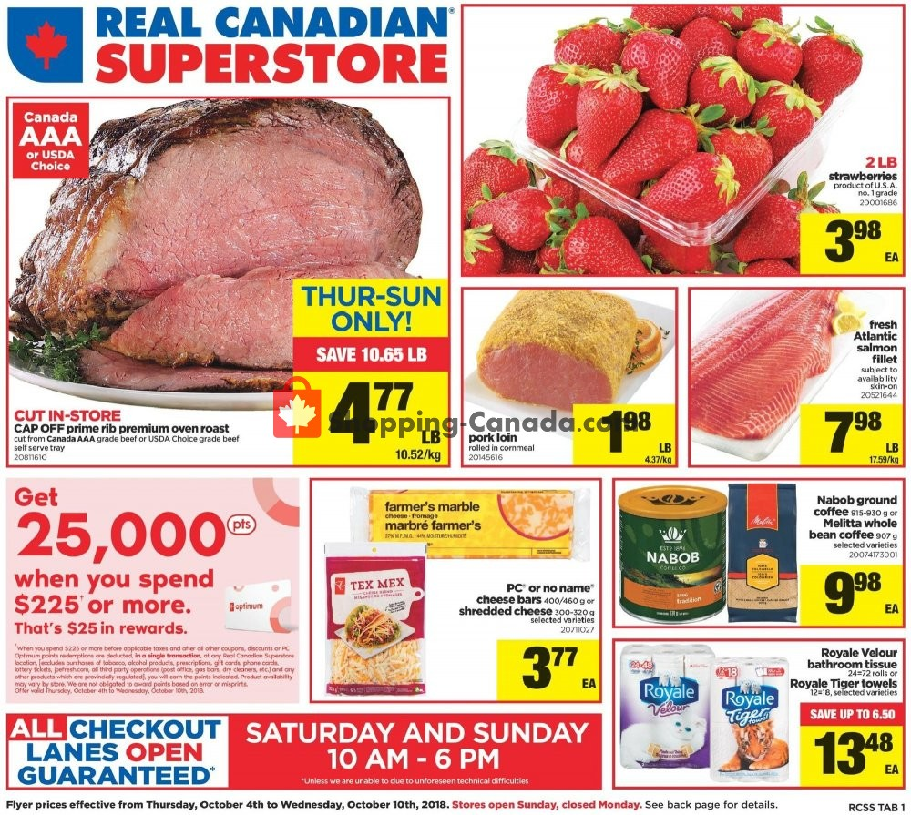 Flyer Real Canadian Superstore Canada - from Thursday October 4, 2018 to Wednesday October 10, 2018