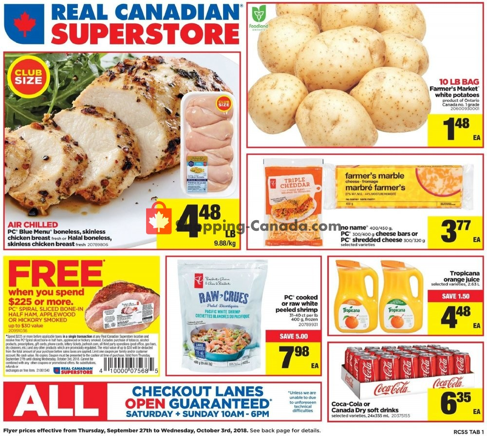 Flyer Real Canadian Superstore Canada - from Thursday September 27, 2018 to Wednesday October 3, 2018