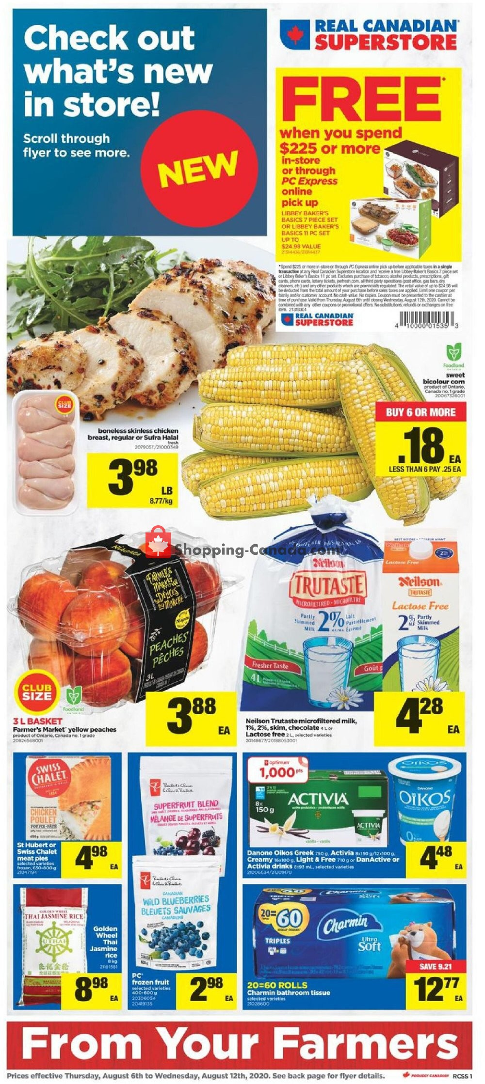 Flyer Real Canadian Superstore Canada - from Thursday August 6, 2020 to Wednesday August 12, 2020