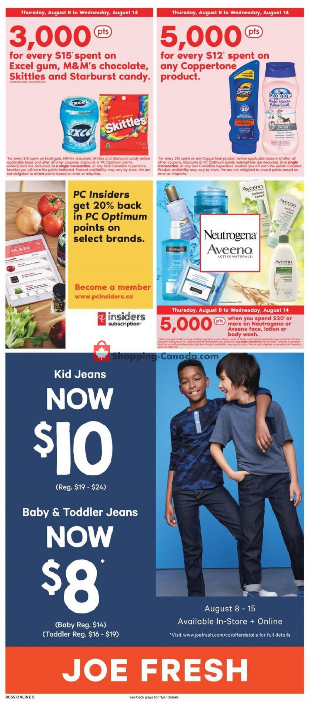 Flyer Real Canadian Superstore Canada - from Thursday August 8, 2019 to Wednesday August 14, 2019