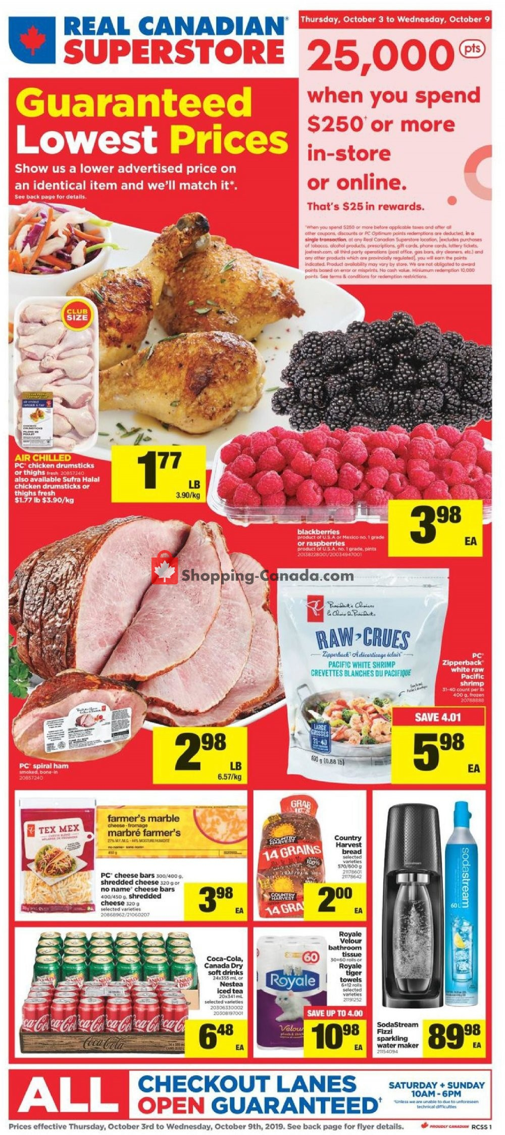 Flyer Real Canadian Superstore Canada - from Thursday October 3, 2019 to Wednesday October 9, 2019