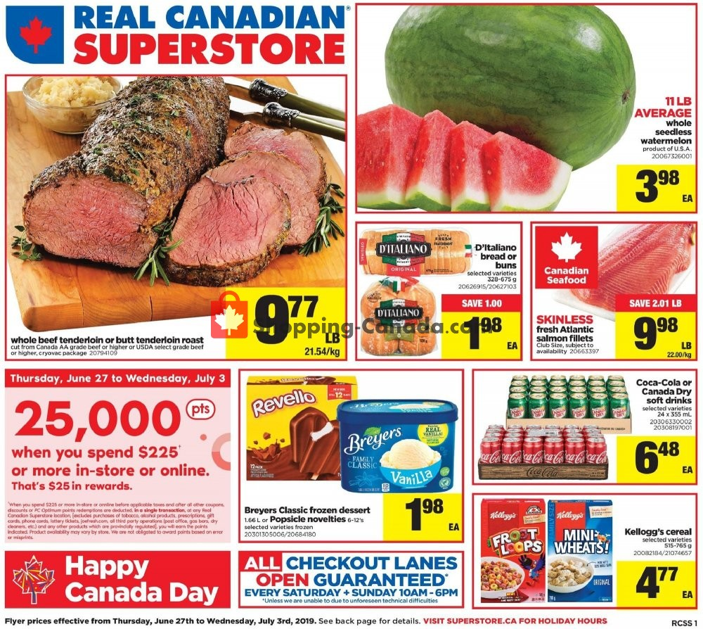 Flyer Real Canadian Superstore Canada - from Thursday June 27, 2019 to Wednesday July 3, 2019
