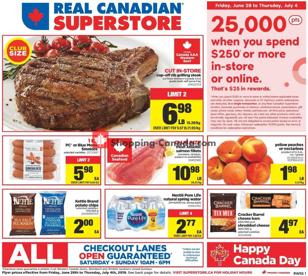 Flyer Real Canadian Superstore Canada - from Friday June 28, 2019 to Thursday July 4, 2019
