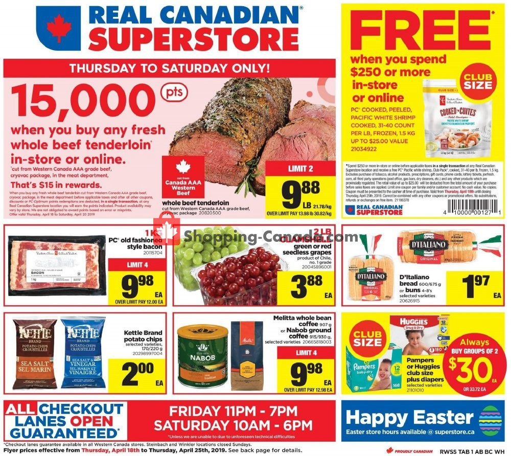 Flyer Real Canadian Superstore Canada - from Thursday April 18, 2019 to Thursday April 25, 2019