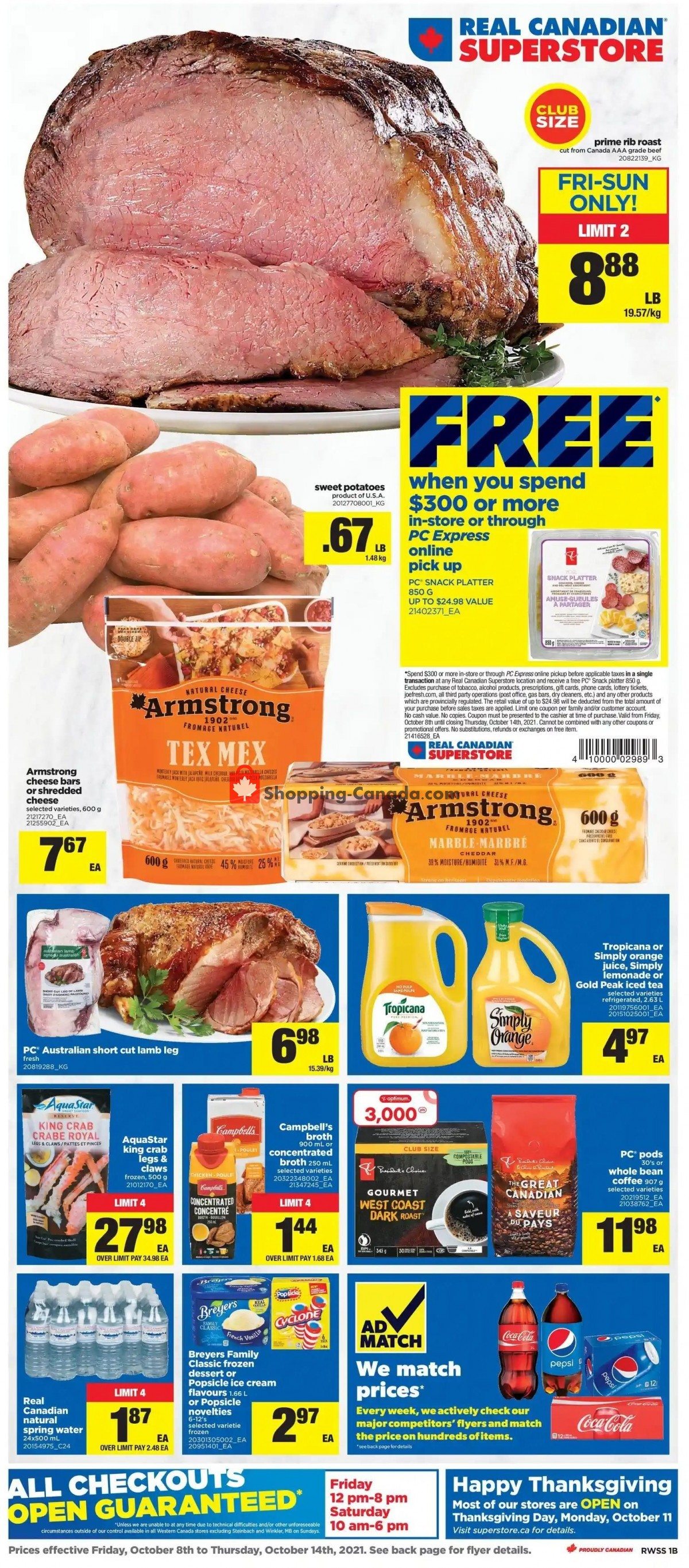 Flyer Real Canadian Superstore Canada - from Friday October 8, 2021 to Thursday October 14, 2021