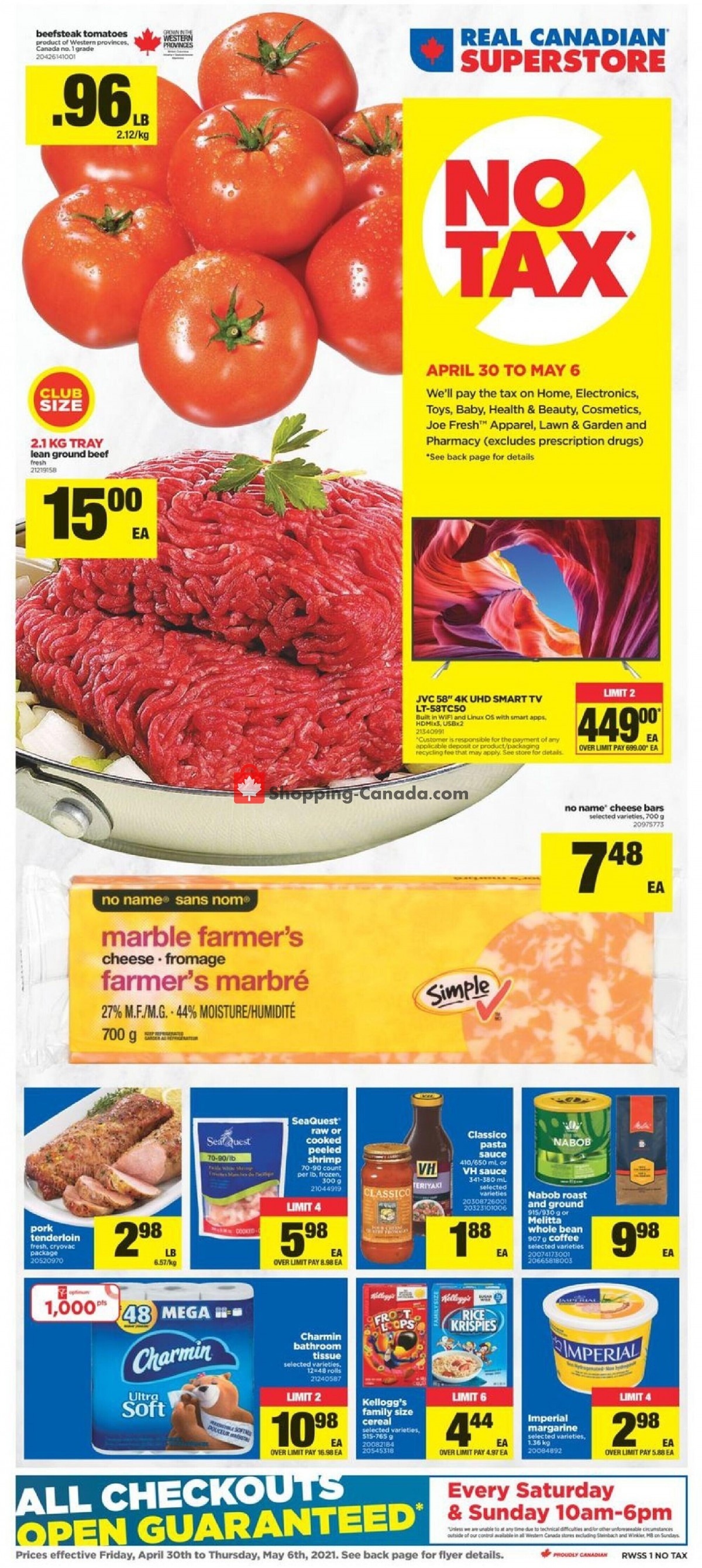 Flyer Real Canadian Superstore Canada - from Friday April 30, 2021 to Thursday May 6, 2021