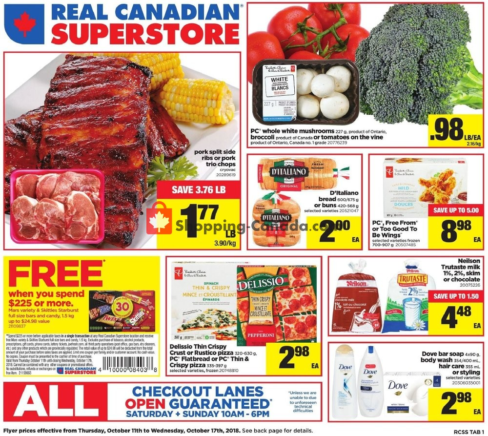Flyer Real Canadian Superstore Canada - from Thursday October 11, 2018 to Wednesday October 17, 2018